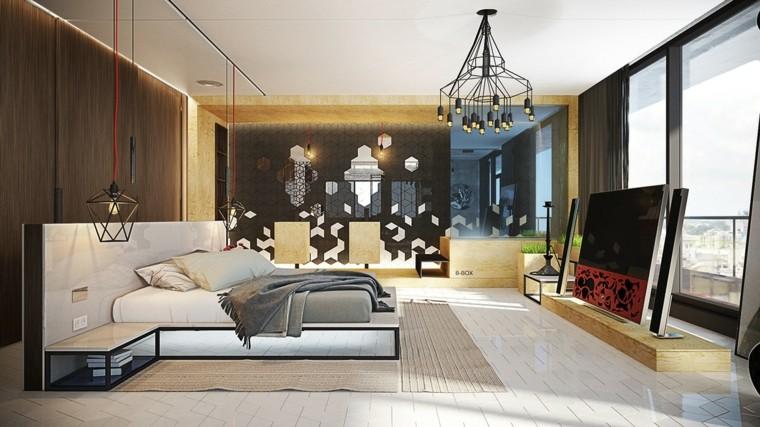 Sergey Procopchuk dormitorio moderno lamparas originales techo ideas