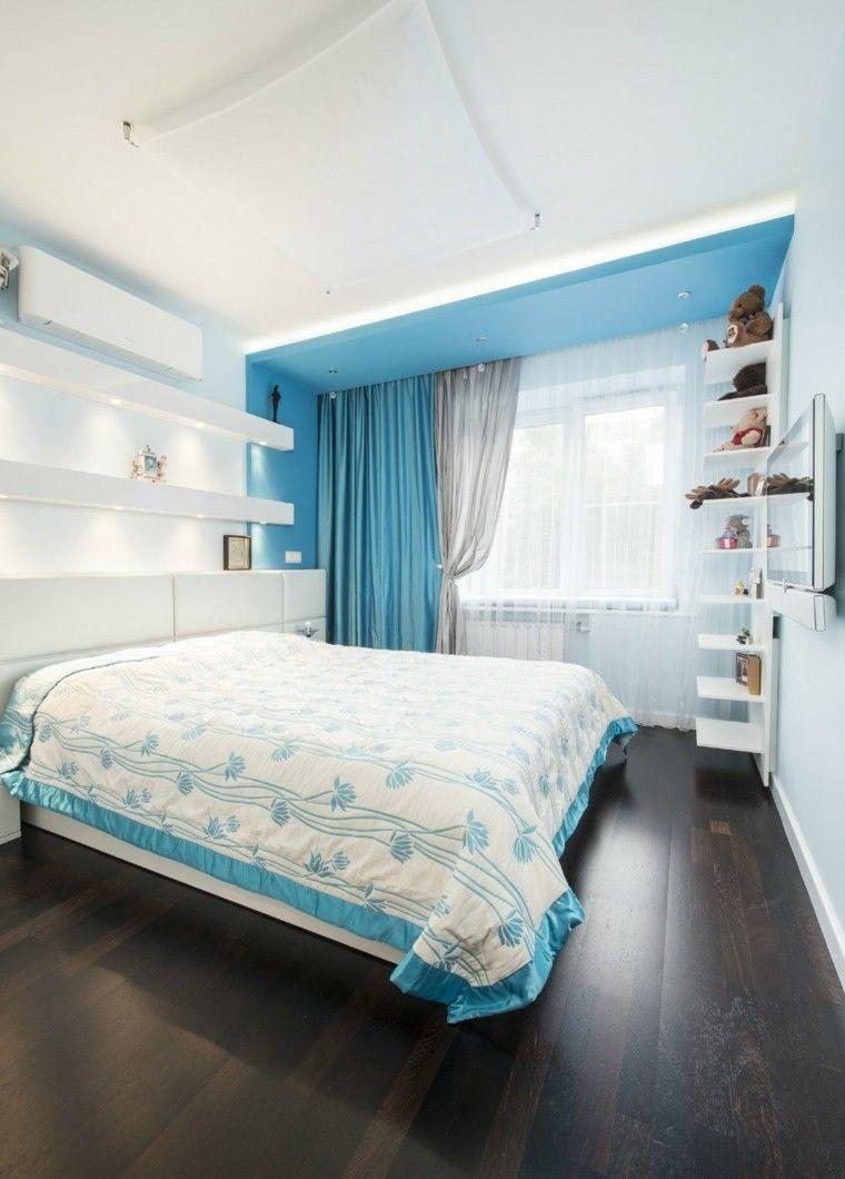 Yarovikova Anna diseno azul-dormitorio minimalista ideas
