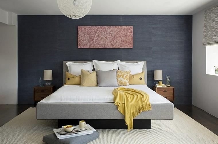 acento paredes grises amarillo cuadro