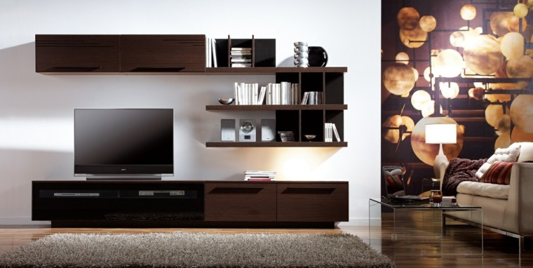 Muebles para tv 50 propuestas creativas y modernas for Muebles modernos living para tv