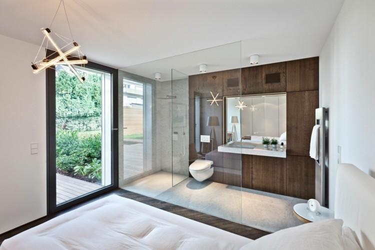 acristalamiento cuarto baño vista dormitorio