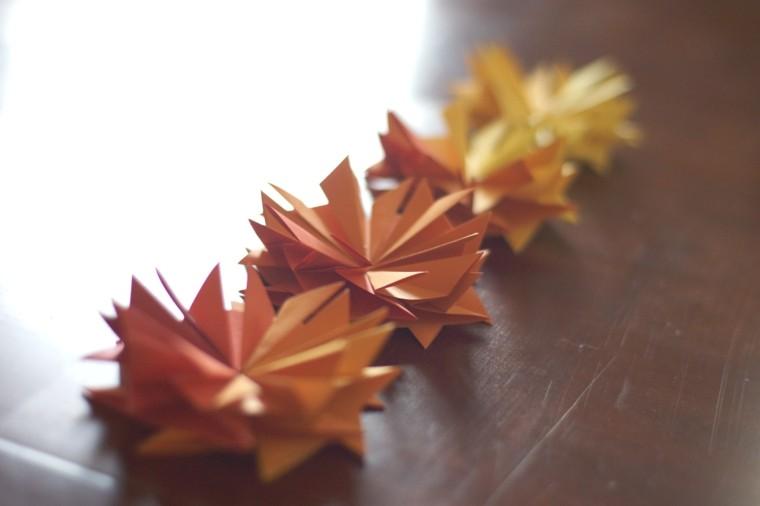 adornos papel deco paisajes de otoño