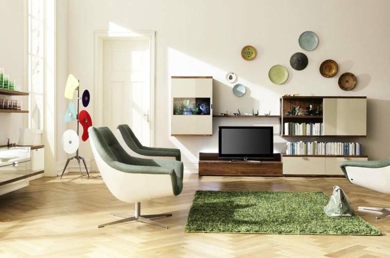 alfombra color verde salon sala