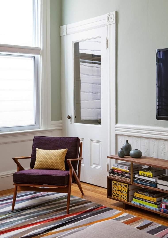 alfombra vintage rayas colores sillon purpura ideas
