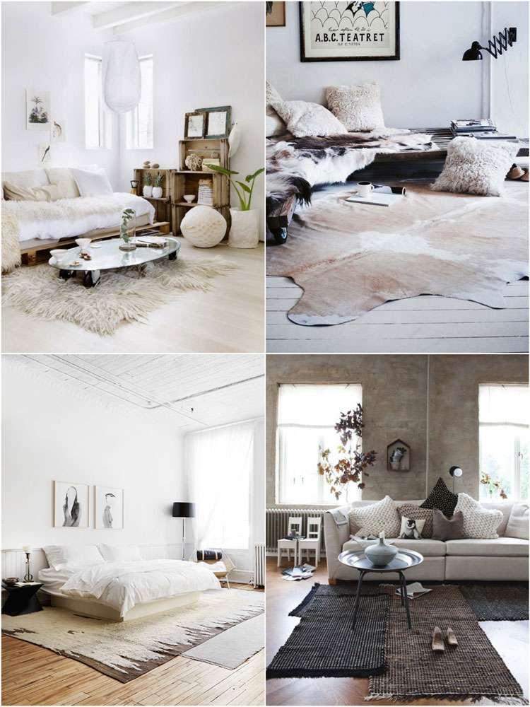 Decoraci n de cuartos 50 ideas creativas para el interior - Alfombras de habitacion ...