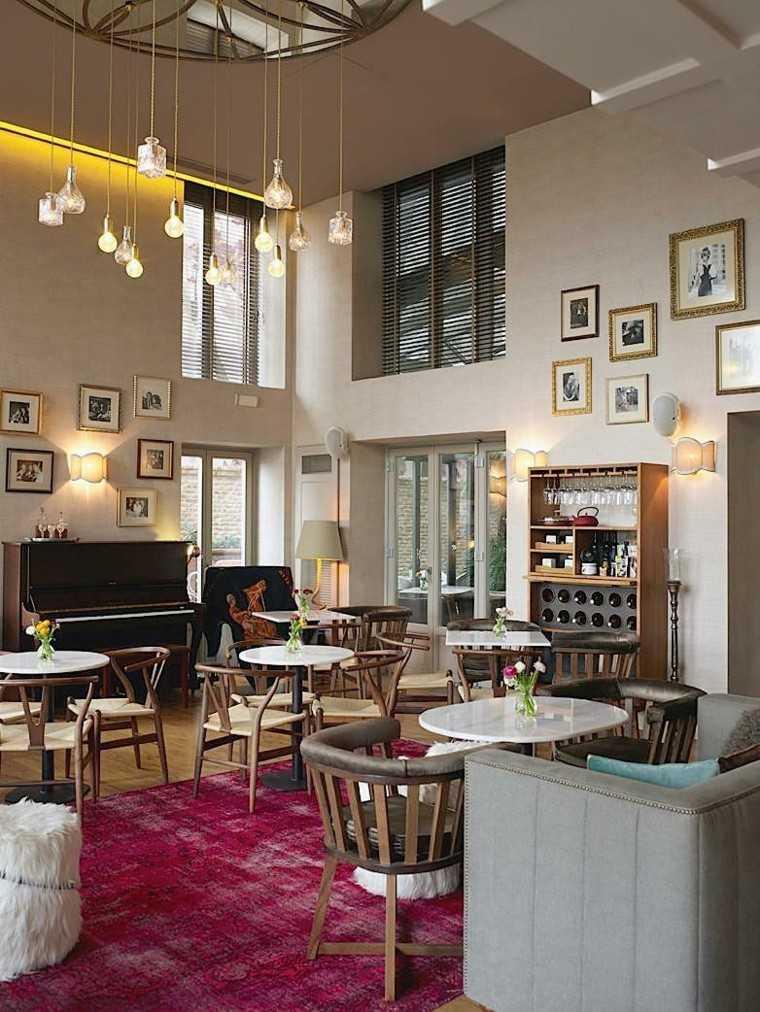 alfombras vintage salon moderno lampara preciosa ideas