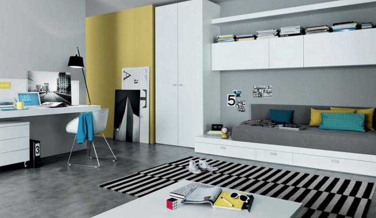 amarillo combinacion rayas paredes alfombra