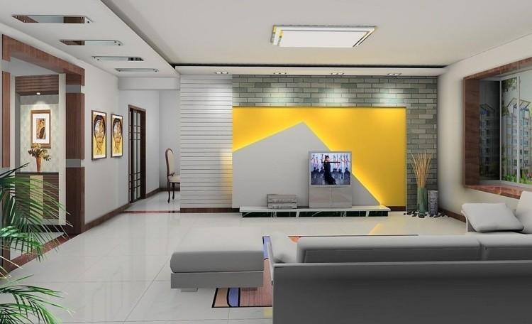amarillo fondo pared llamativo plantas