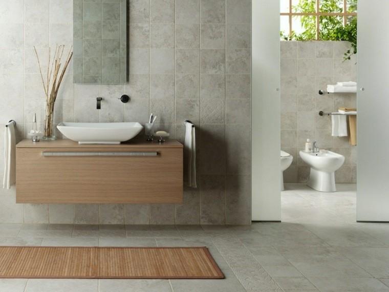 ideas de baño marrón y crema Diseo De Baos En Color Gris 50 Ideas Inspiradoras
