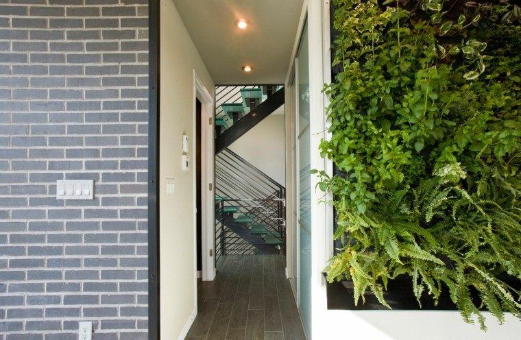 arquitectura ladrillos casa elegante led