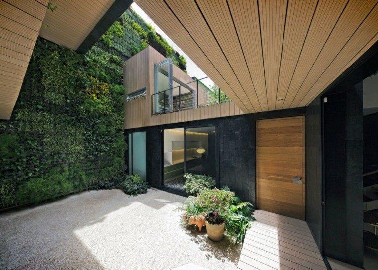 arquitectura moderno casa techo madera