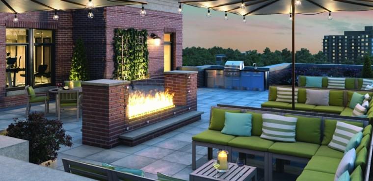 Decoracion terraza aticos dise os modernos de gran altura for Ideas para decorar azoteas