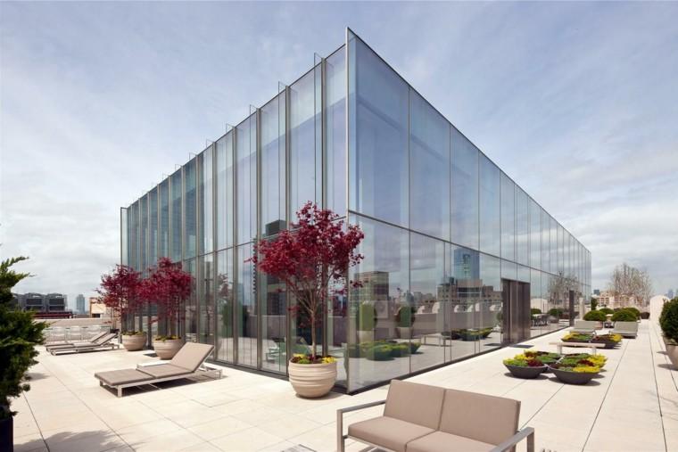 atico terraza edificio cristal minimal