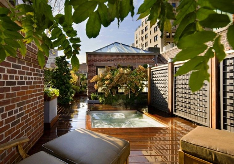 upper east side roof gardennew york diseo billie cohen - Decoracion Aticos