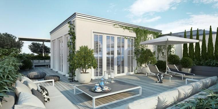 decoracion terraza aticos dise os modernos de gran altura. Black Bedroom Furniture Sets. Home Design Ideas