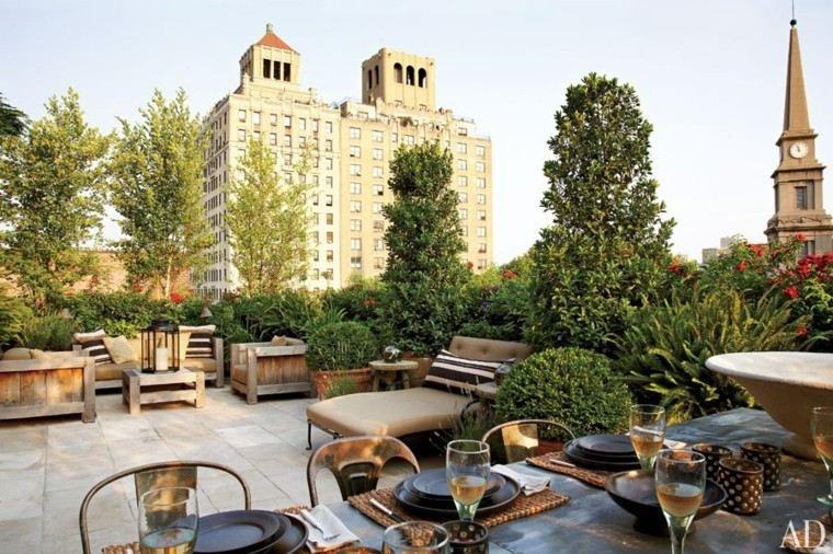 diseño aticos terrazas muchas plantas