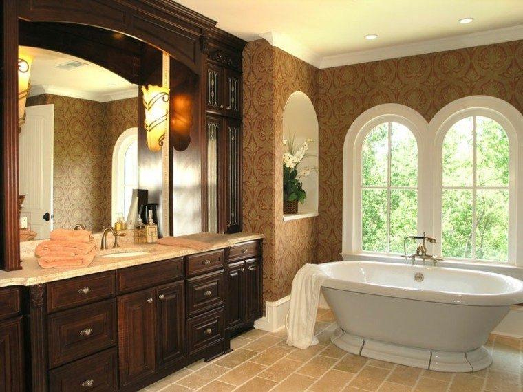 Baño Blanco Suelo Madera:Ideas decoracion baño y estilos, 50 variantes decorativas