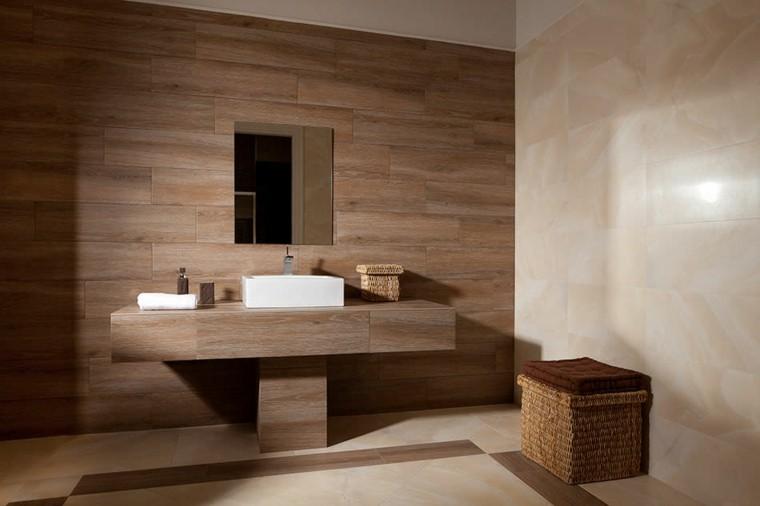 Azulejos dise o madera un toque natural para tu ba o - Que azulejos poner en el bano ...