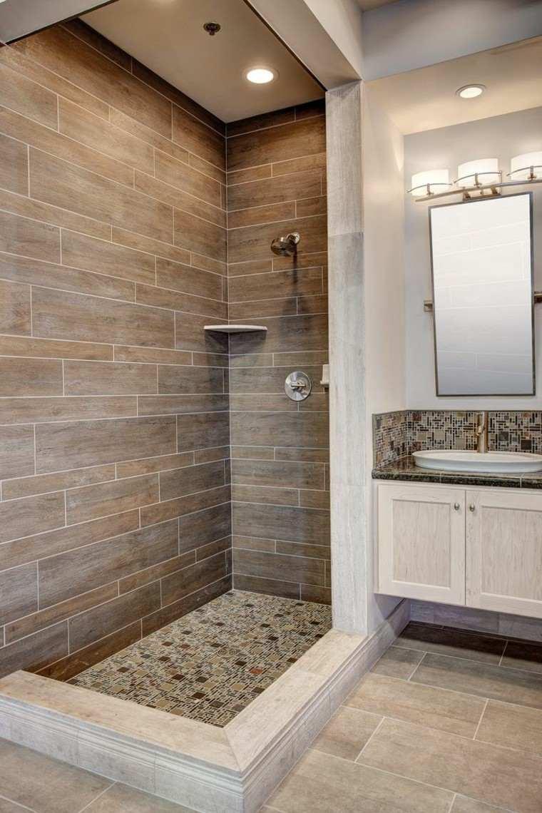 Azulejos dise o madera un toque natural para tu ba o - Azulejos para duchas ...