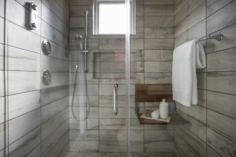 azulejos diseño envejecida madera baño