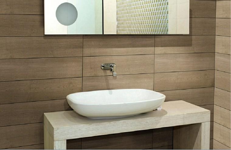 azulejos diseño imitacion lavabo madera