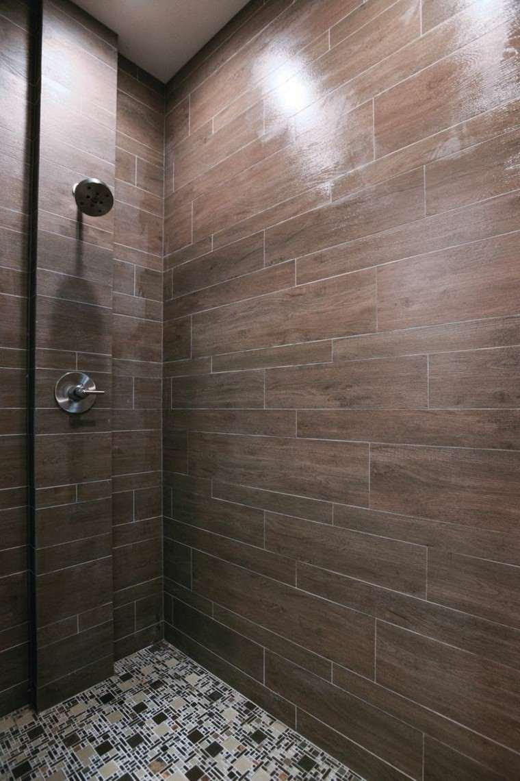 azulejos diseño interior ducha madera
