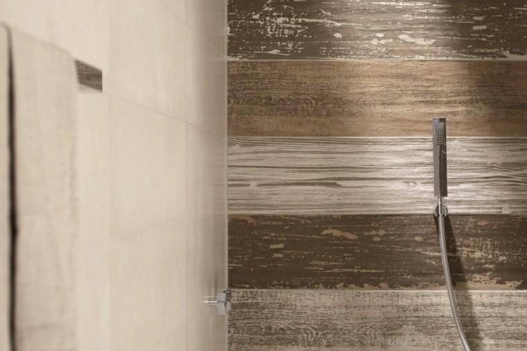 azulejos diseño madera envejecida ducha