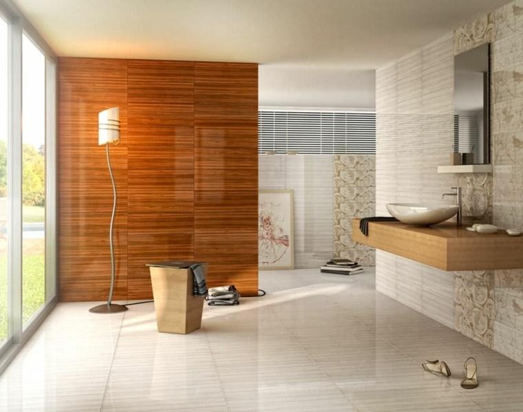 azulejos diseño madera lampara acento