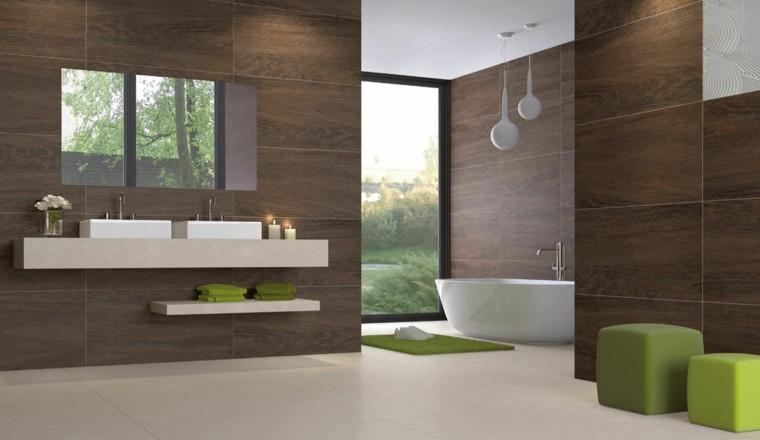 azulejos diseño madera paredes minimalista