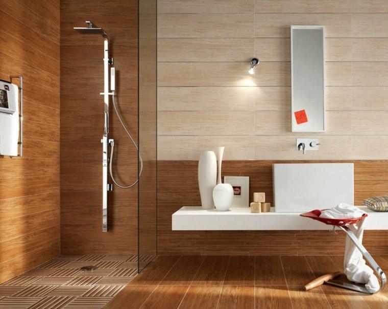 azulejos diseño moderna ducha texturas