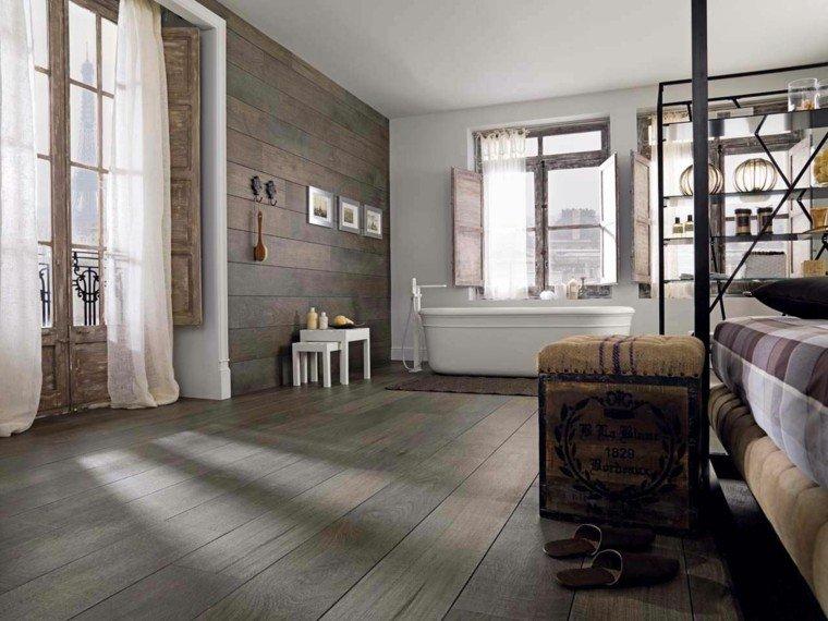 azulejos diseño porcelana cortinas rustico