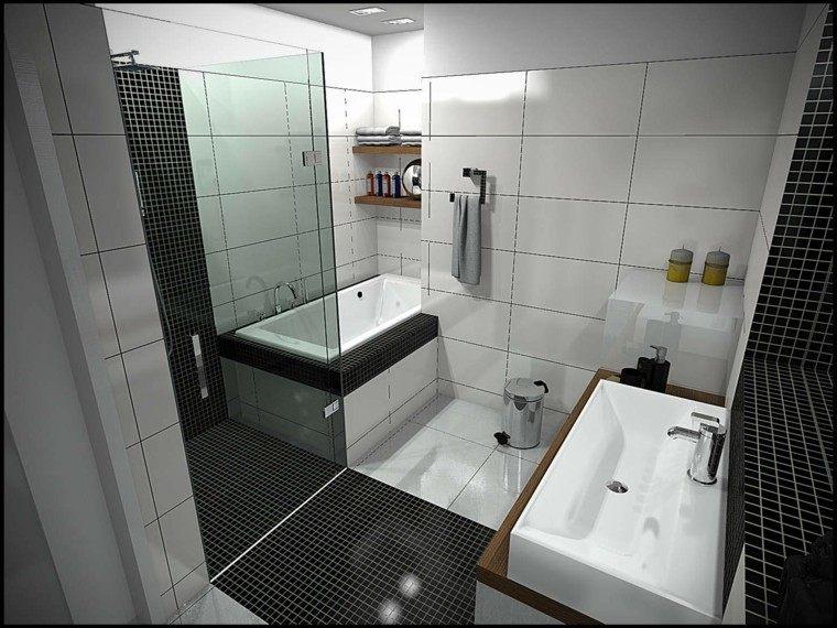 bañera diseño creativo ducha negro