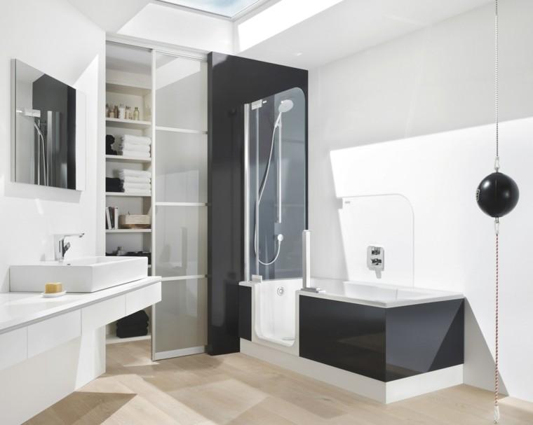 bañera diseño esfera espejo estante