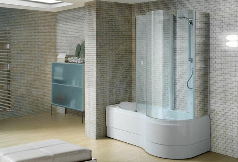 Bañera con ducha, 50 variantes de diseño para combinarlas.