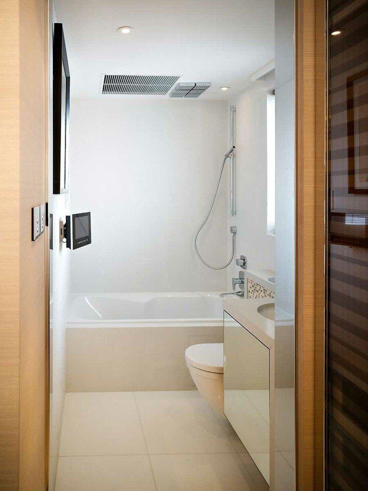 bañera mural ducha moderna blanco