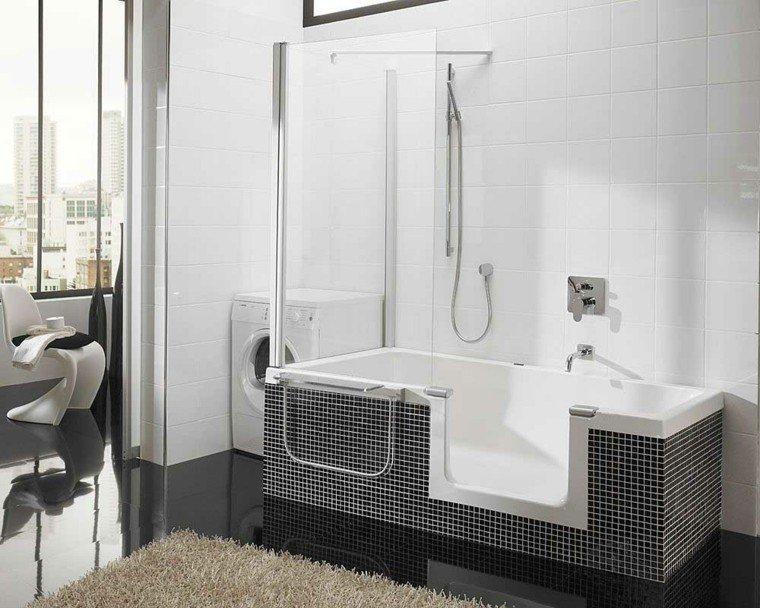 bañera sillas modernas ventanas alfombra