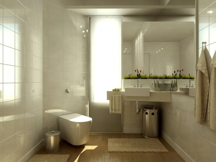 baño creativo elegante calido plantas
