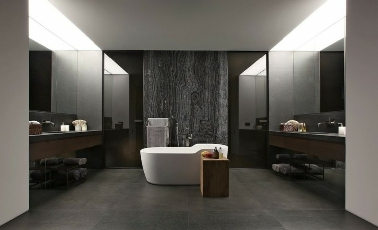 baño creativo lujo elegante madera