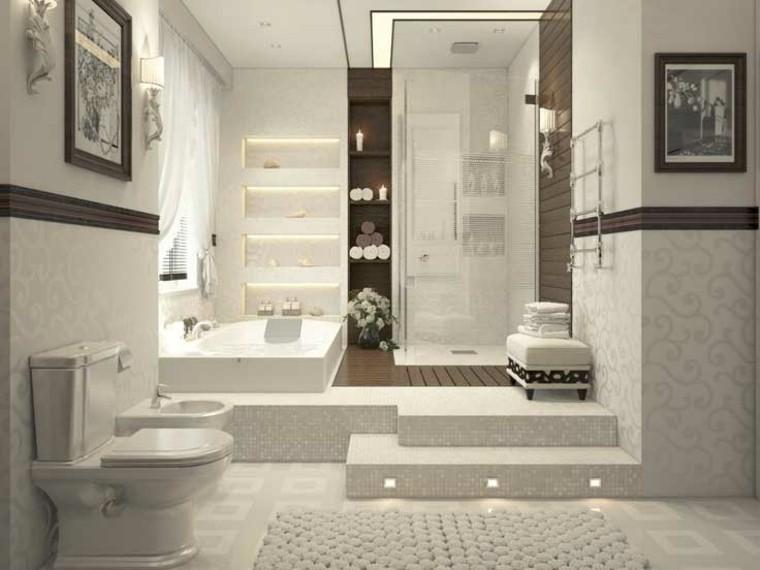baño creativo lujo escalones amplio