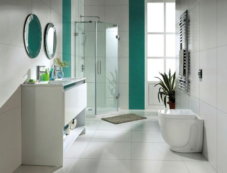 baño decorado mosaico color verde