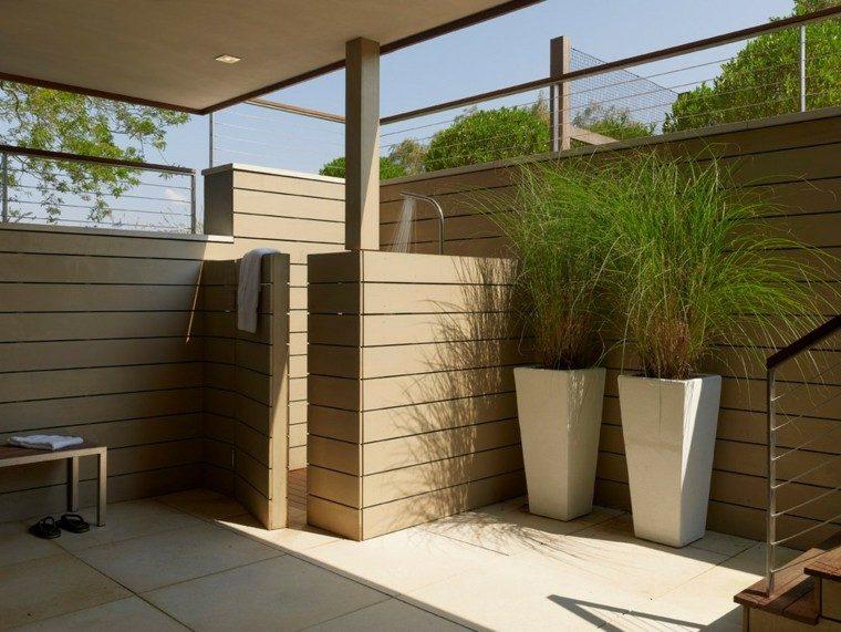 baño exterior decorativo espacio ducha