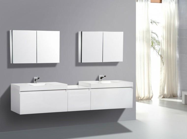 Muebles De Baño Estilo Minimalista:Diseño de cuarto de baño con muebles rojos