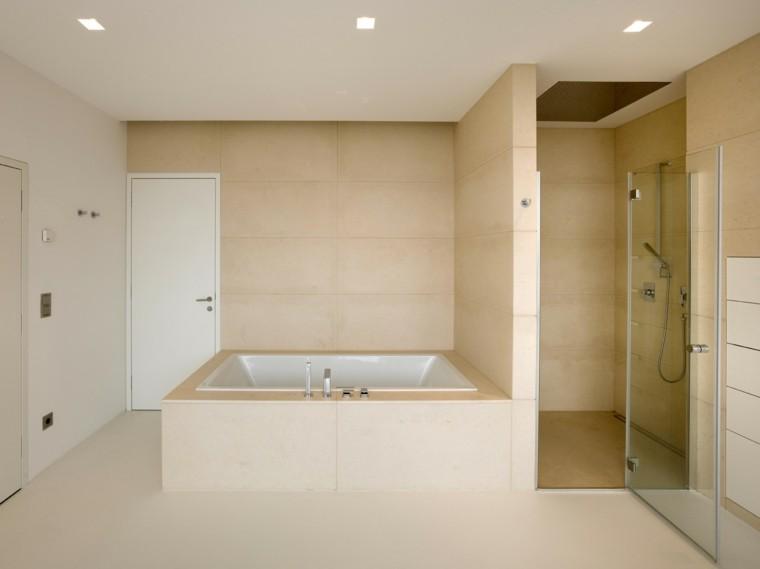baño diseño moderno color beige