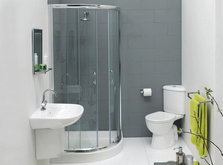 diseño baños de color gris
