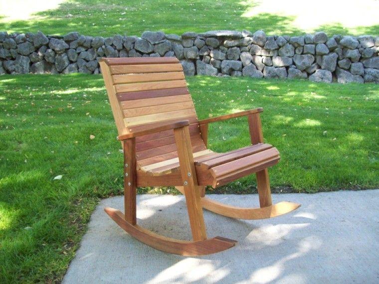rocker classic design teak wood