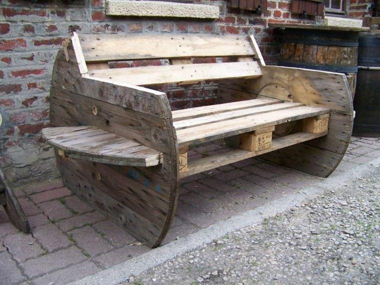 banco pallets madera diseño moderno