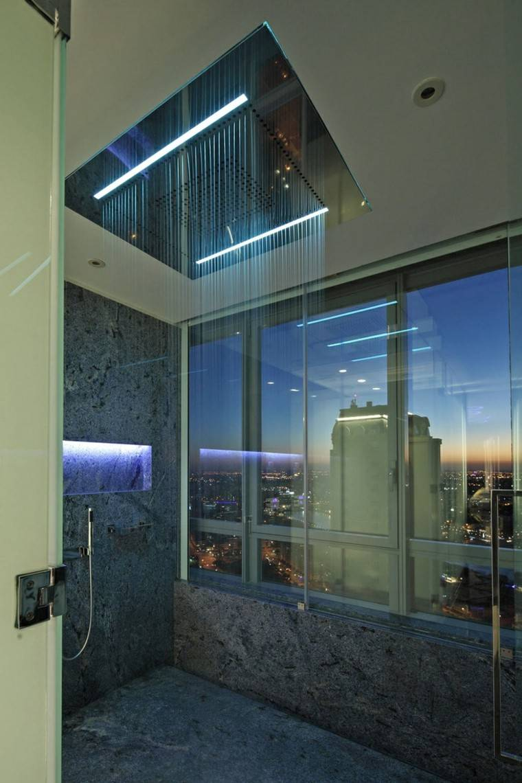 Iluminacion Baño Diseno:Diseño de baños en color gris 50 ideas inspiradoras -