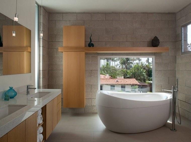 bano diseno estilo originalidad banera muebles madera estilo