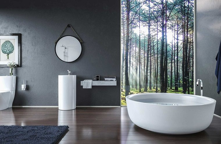 Cuarto de ba o con dise o moderno al estilo minimalista - Cuartos de bano estilo zen ...