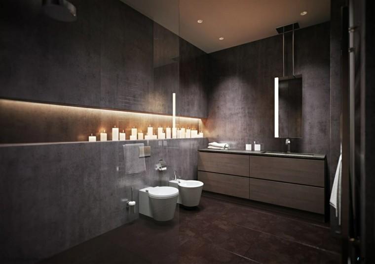 Baño Romantico Ideas:Diseño de baños en color gris 50 ideas inspiradoras -